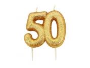 Vela 50 dourada