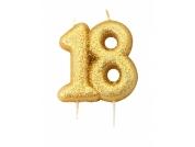 Vela 18 dourada