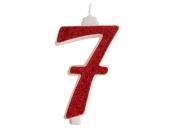 Vela número vermelha (11cm)