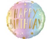 Balão Foil Happy Birthday (46 cm)